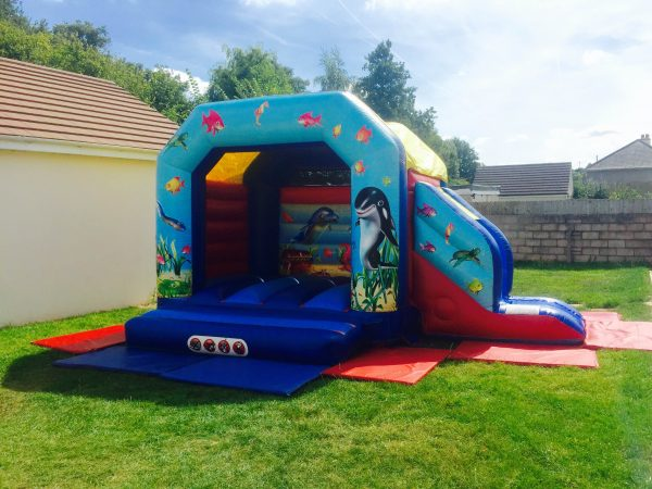 bouncy castle with slide devon