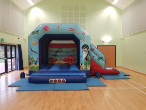 bouncy castle with slide hire