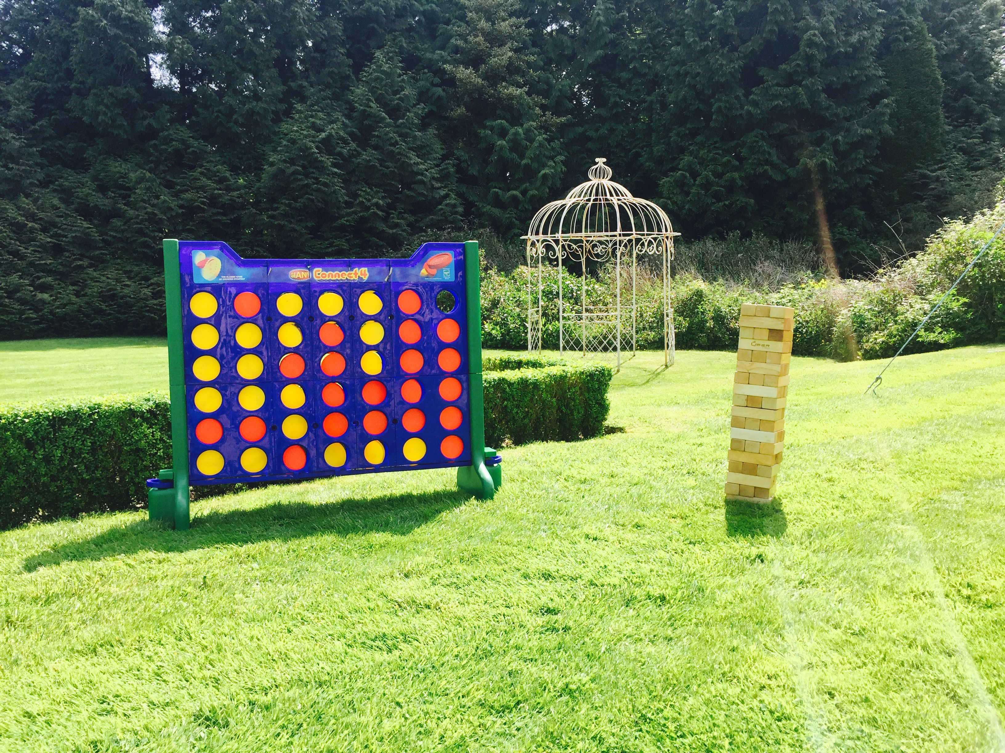 Giant Jenga & Giant Connect 4 Part Of Our Garden Games Hire Torbay