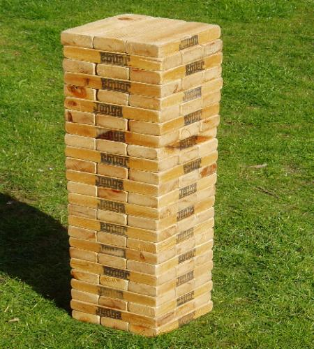 Giant Jenga Party Game - Garden Games Hire In Torbay, Covering Newton Abbot, Totnes & Exeter