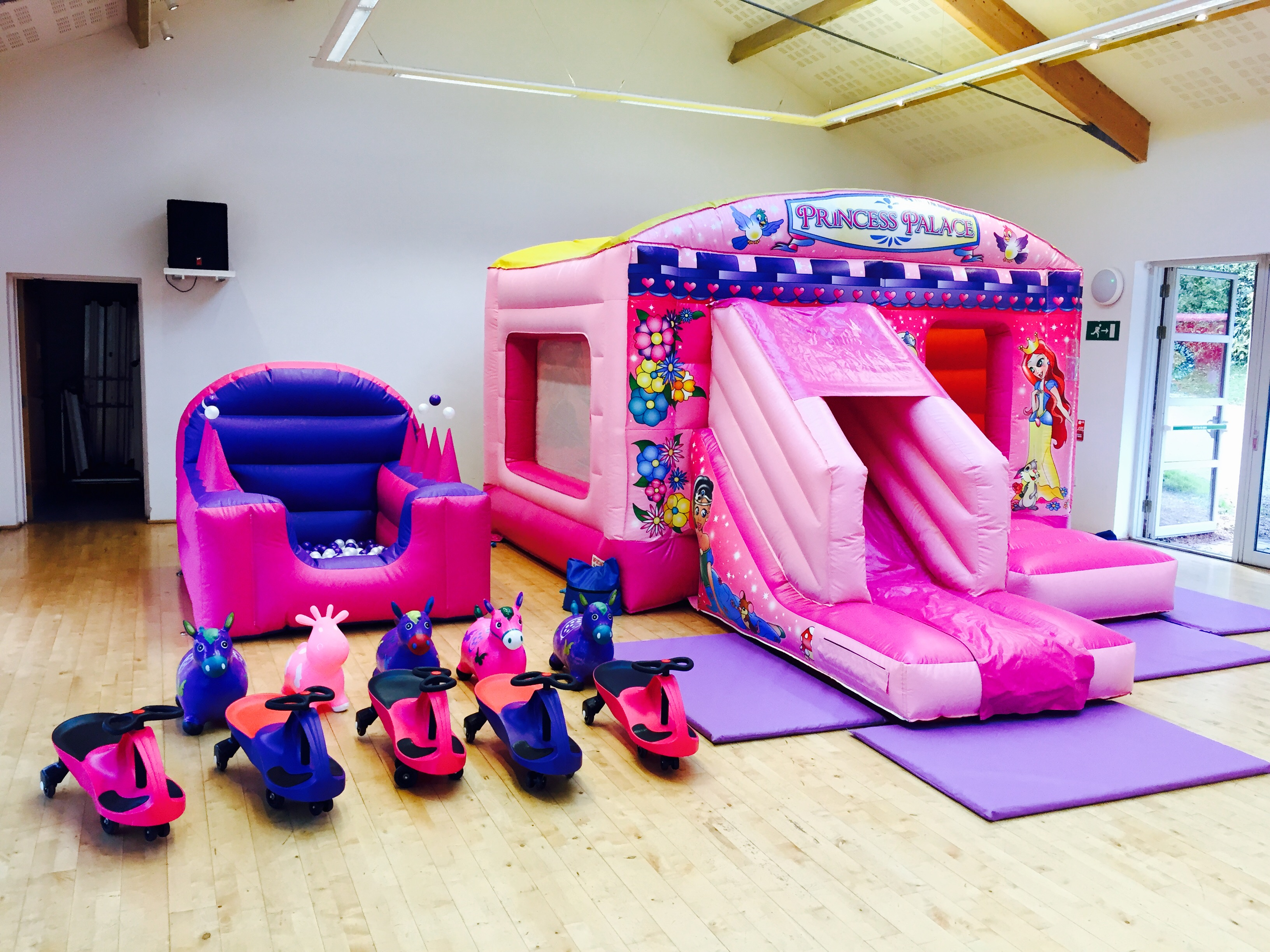 Princess Bouncy Castle With Slide, Bouncy Castle, Party Package hire in Torbay, Newton Abbot, Torquay & Paignton