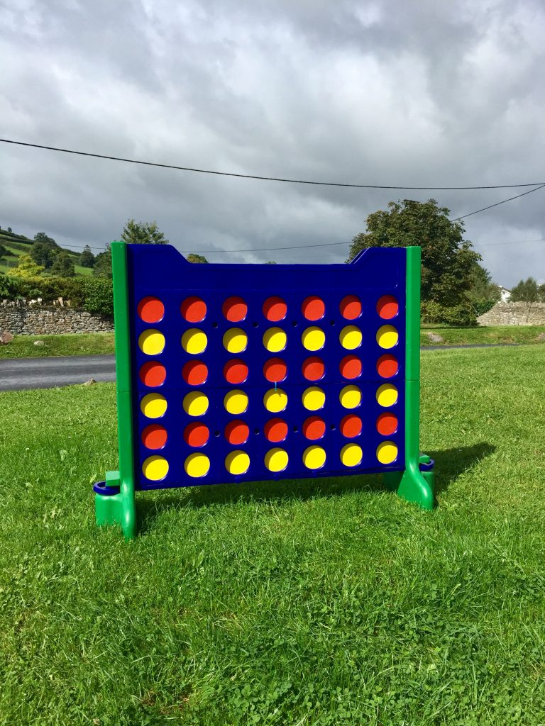 Giant Connect 4 Party Game, Part Of Our Garden Games Hire Devon