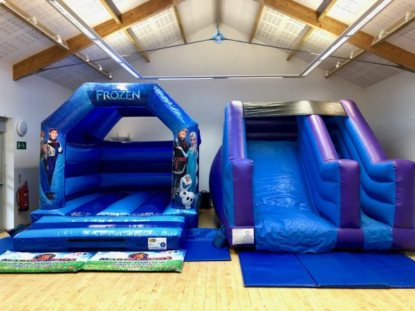 Frozen Slide Bouncy Castle Hire Devon