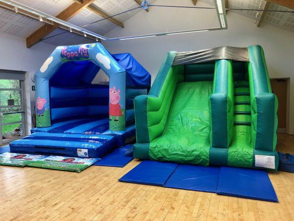 Peppa Pig Slide Bouncy Castle Hire Totnes
