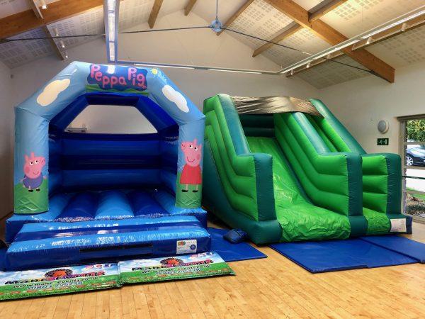 Peppa Pig Slide Bouncy Castle Hire South Hams