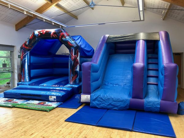 Spiderman Slide Bouncy Castle Hire South Hams