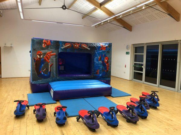 Spiderman Bouncy Castle Hire Newton Abbot