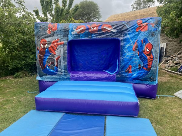 Spiderman Disco Bouncy Castle Hire Exeter