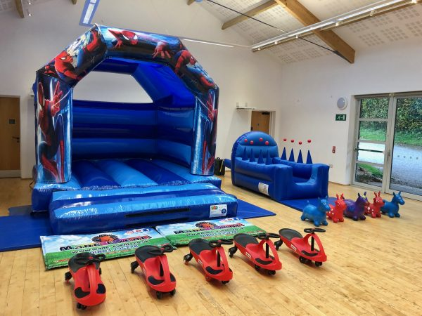 Spiderman Bouncy Castle Party Package in Newton Abbot