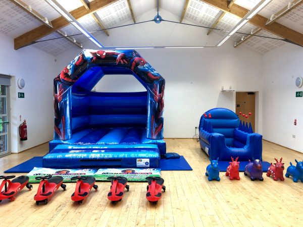 Spiderman Bouncy Castle Party Party Package Hire Torquay