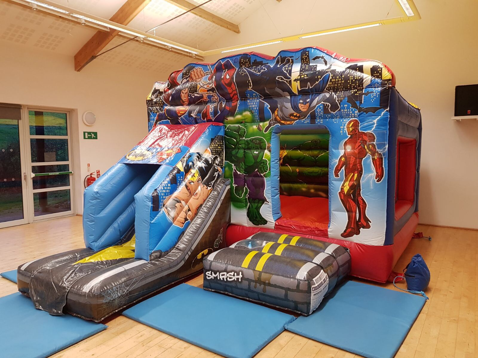 Super Hero Bouncy Castle Hire Paignton