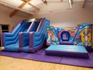 Unicorn Bouncy Castle Party Devon