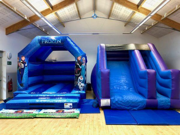 Frozen Slide Bouncy Castle Hire Devon