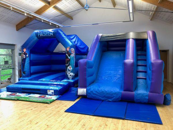 Frozen Slide Bouncy Castle Hire Torbay