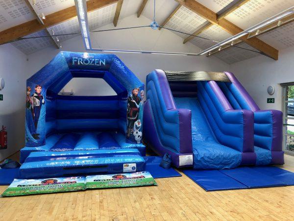 Frozen Slide Bouncy Castle Hire Newton Abbot