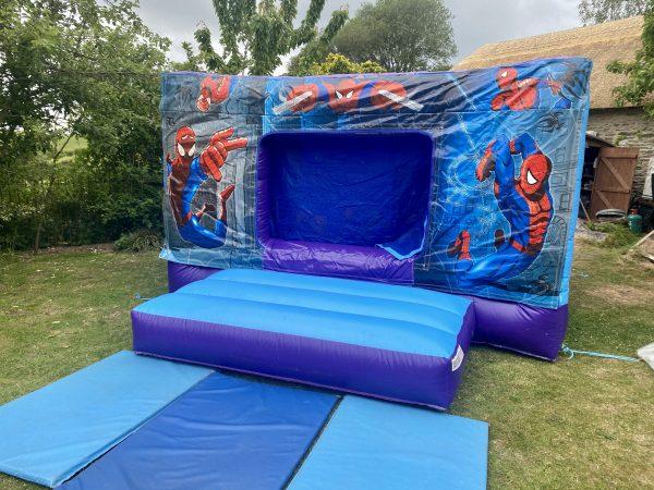 Spiderman Disco Bouncy Castle Hire Newton Abbot
