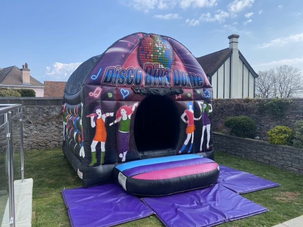 Disco bouncy castle hire devon